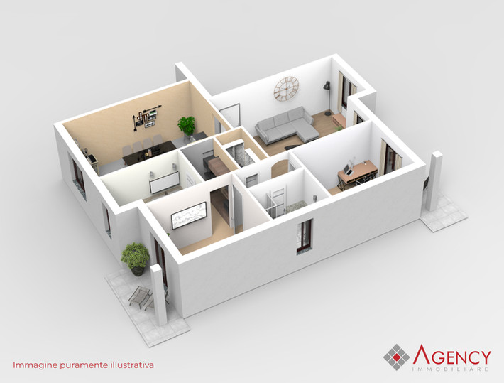 Rendering appartamento Binago