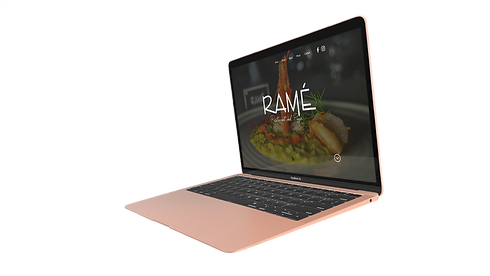 gold-macbook-air-mockup-floating-over-a-