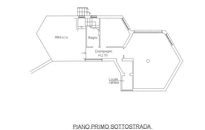 planimetria abitazione piano primo sotto