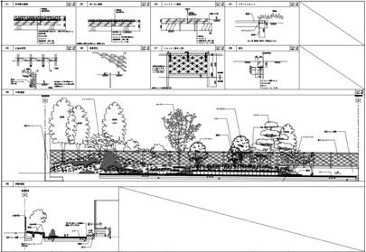 庭のランドスケープデザイン。 ランドスケープとは、人が歩いたり立ち止まったりした際の視点の移り変わりを加味した造園の概念で、風景のデザインのことを指します。外構や植栽とともに全体性を創り上げていきます。