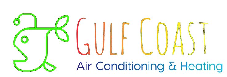 Gulf Coast AC and heating colorful angler fish logo