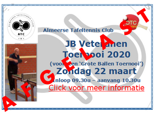 Afgelast: ATC OTC's John Brouwers Veteranen Toernooi 2020 (22 maart) en ATC clinics Basisscholen
