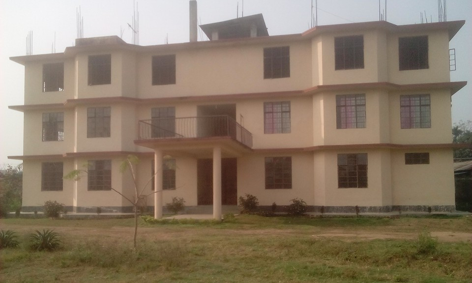 Administration, class rooms and women's dorm