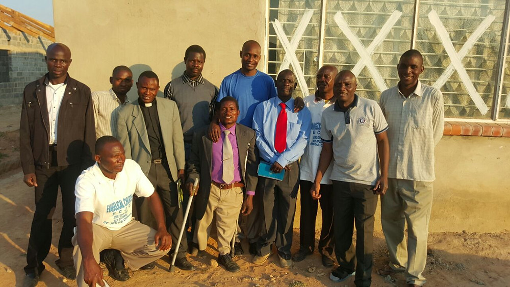 Apostles Kelvin & Jim with some of the pastors in Kitwe