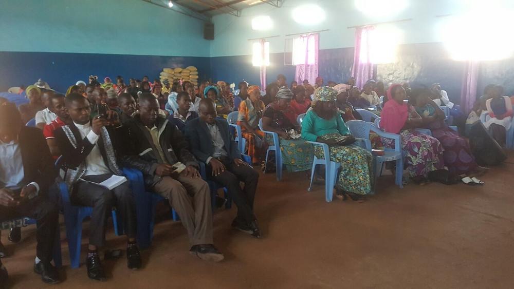 Gathering to hear Apostles Jim and Kelvin, Lubumbashi, DNR