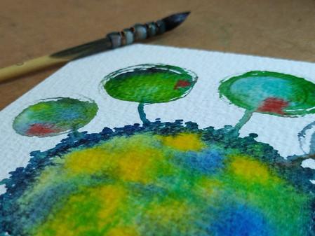 """Aquarelle abstraite"""