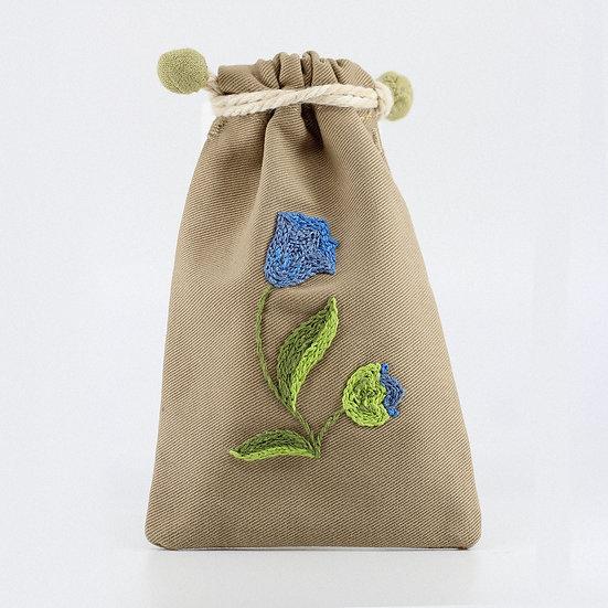 Pochette Fleur bleue