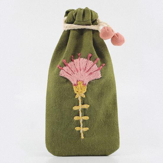 Pochette Fleur rose