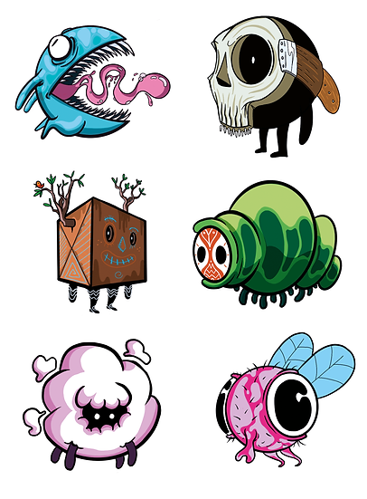 Monsters Stickers