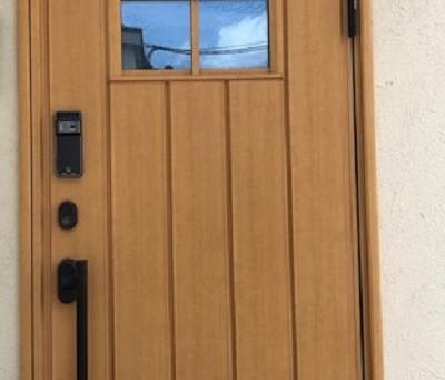 【帯広 指紋錠】EPIC(エピック)電池式指紋錠を玄関ドアに新規取付しました