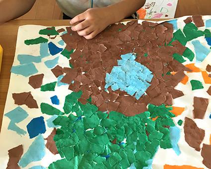 幼稚園での造形プログラムがスタート