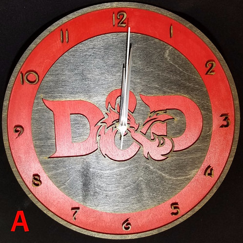 "12"" Dungeons and Dragons Clock"