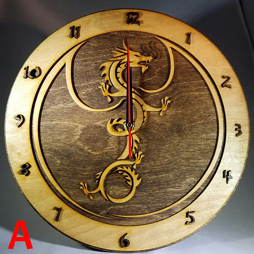 "12"" Winged Dragon Clock"