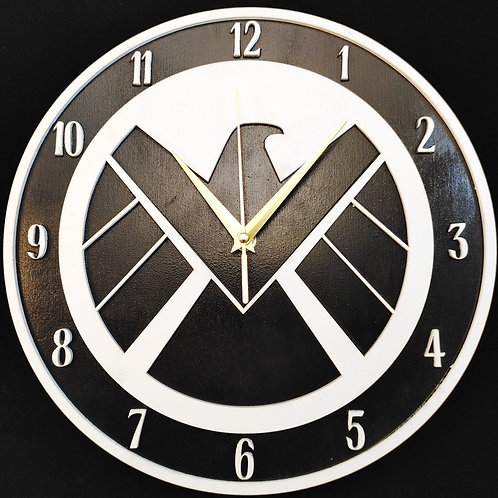"12"" Agents of Shield Clock"