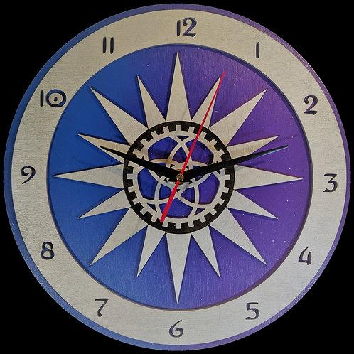 "12""  Steam Sun Clock"