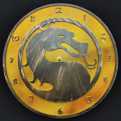 "12"" Mortal Kombat Clock - Distressed"