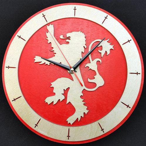 """12""""  Lannister Clock"""