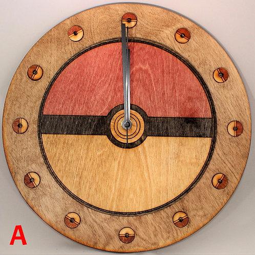 "12"" Pokemon Ball Clock"