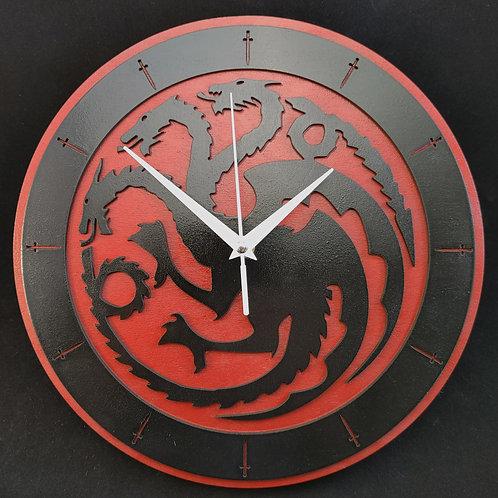 "12""  Targaryen Clock"