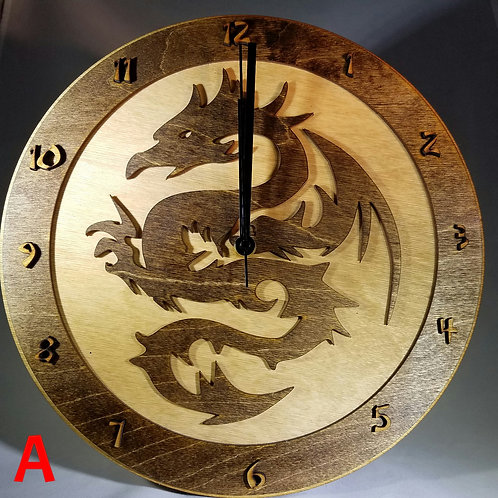 "12"" Serpentine Dragon Clock"