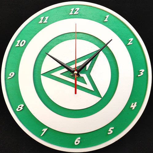 "12"" Green Arrow Clock"