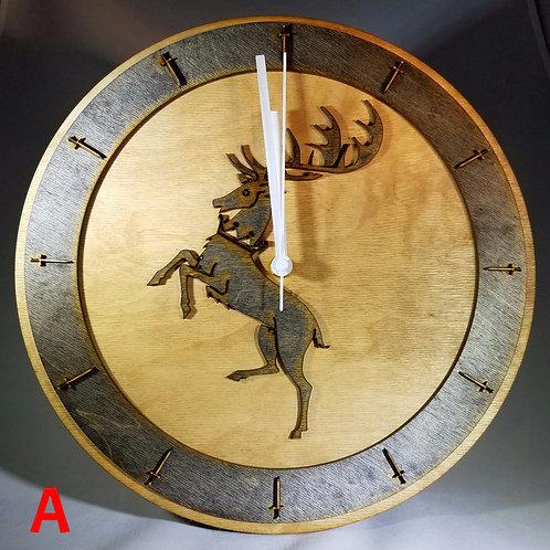 "12""  Baratheon Clock"