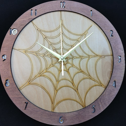 """12"""" Spiderweb Clock"""