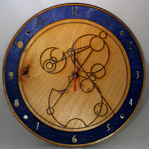 "12"" Circular Gallifreyan Clock - Design Your Own!"