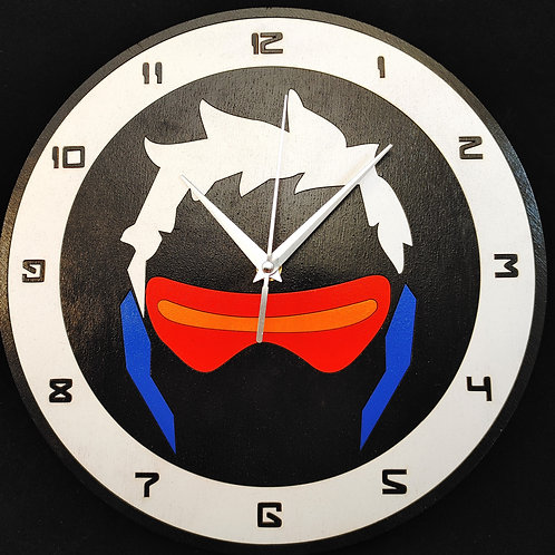 "12""  Soldier 76 Clock"