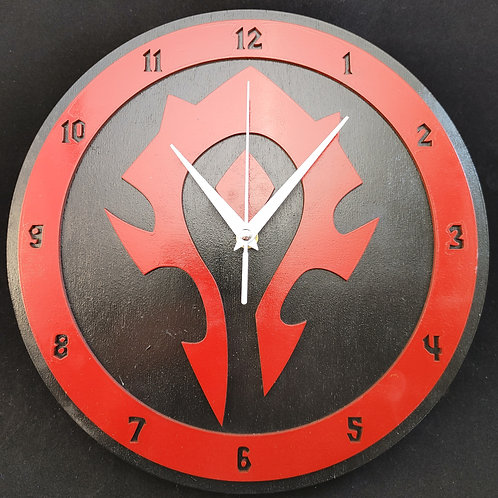 "12""  Horde Clock"