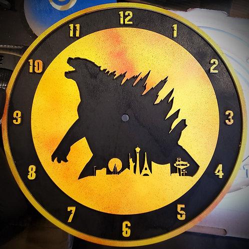 "12"" Godzilla Clock"