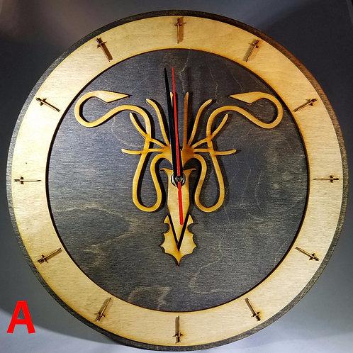 """12""""  Greyjoy Clock"""