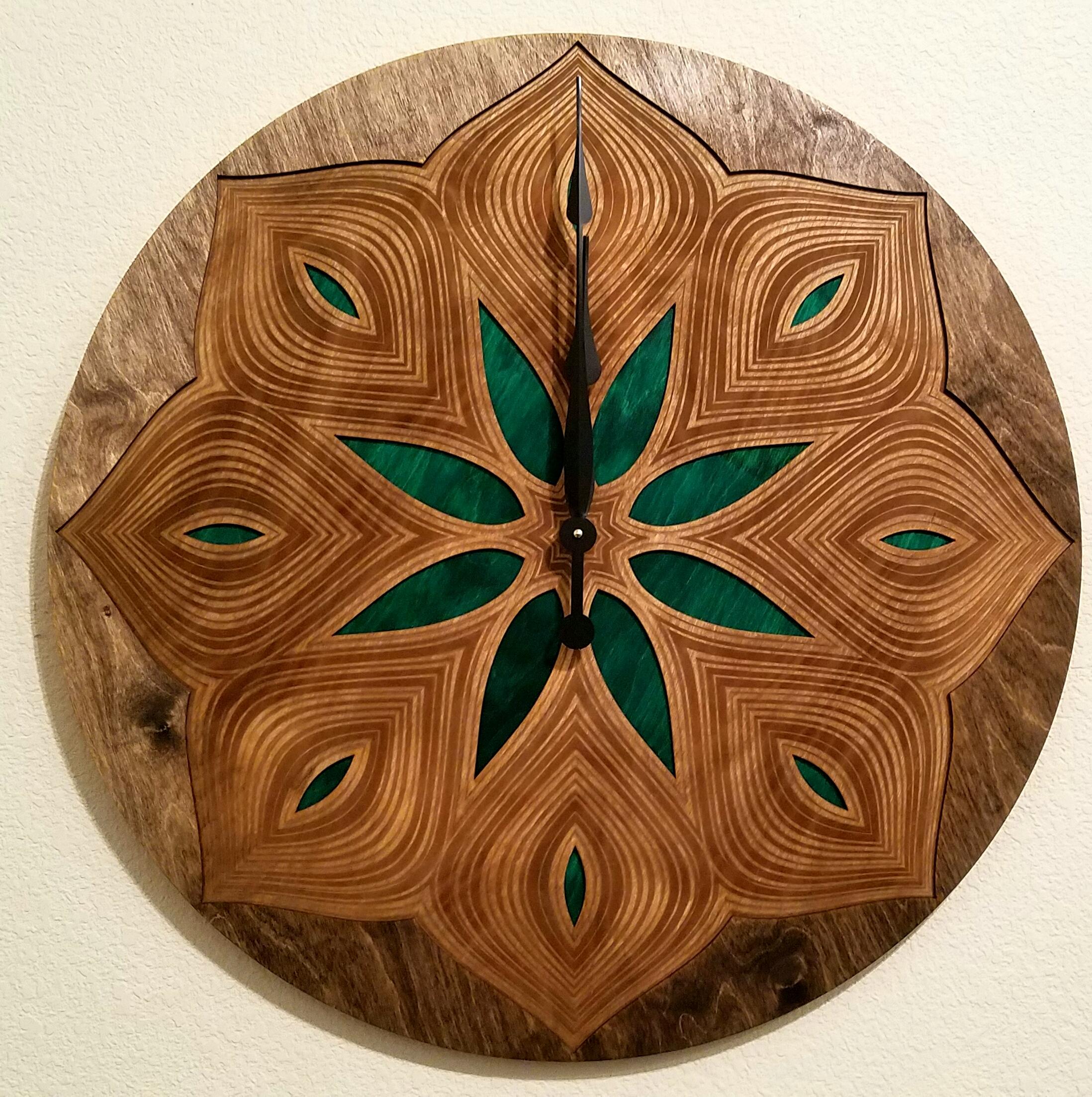 Large Pattern Clock