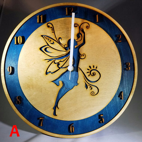 "12"" Dancing Fairy Clock"