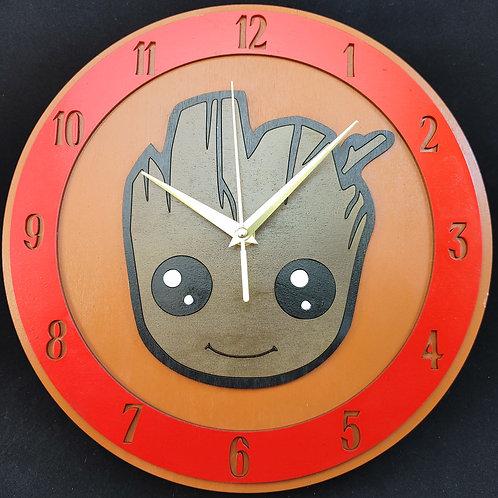 """12"""" Baby Groot Clock"""