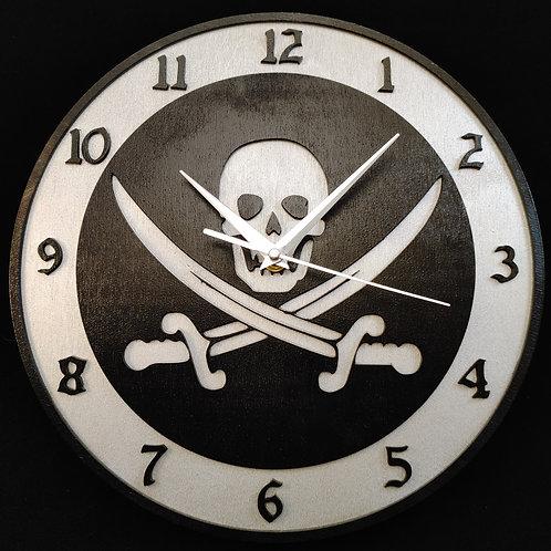 """12""""  Jolly Roger Clock"""