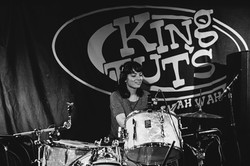 Melanie Drumming whilst placing bets