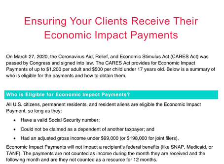 Economic Impact Payment Summary & Decision Tree