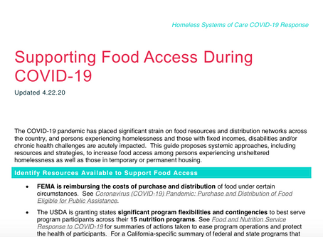 Supporting Food Access During COVID-19