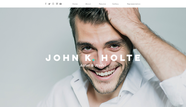 Creative Arts website templates – Actor & Model Resume