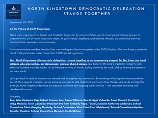 North Kingstown Delegation Stands Together