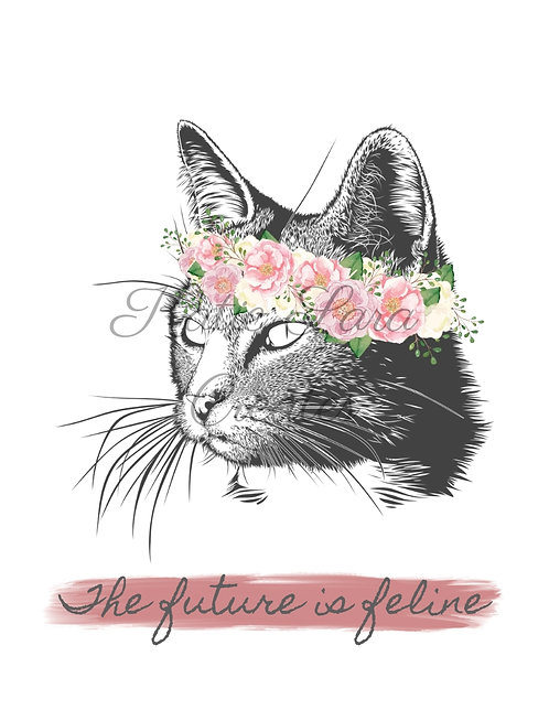 """The Future Is Feline"" Print"