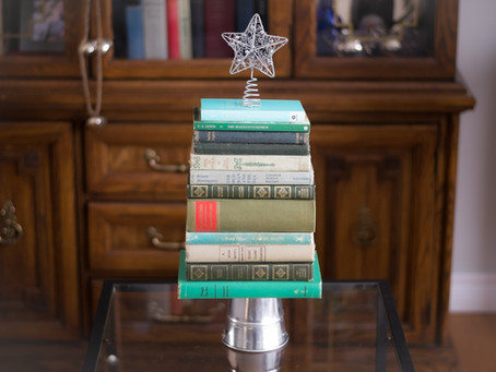 DIY Vintage Book Christmas Tree Decoration