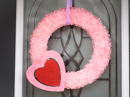 DIY Rock Candy Valentine's Day Wreath {Video}