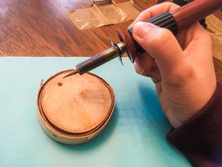 DIY Birch Slice Christmas Ornament
