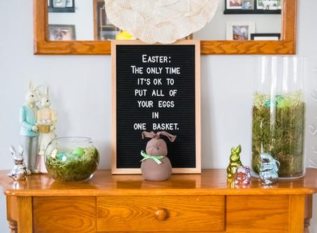 DIY Dollar Store Easter Decor {Video}