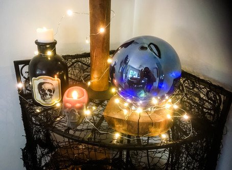DIY Gazing Balls Turned Halloween Crystal Balls