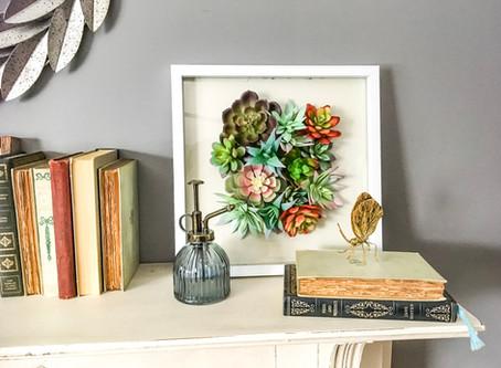 DIY Dollar Store Succulent Art {Video}