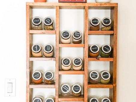 DIY Dollar Store Spice Storage