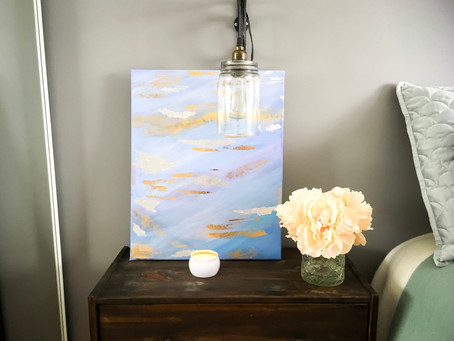DIY Dollar Store Abstract Art {Video}